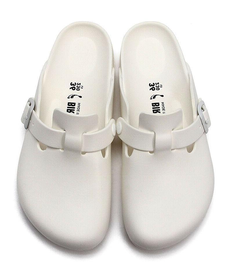 Birkenstock Boston EVA White  Sandals Slides Unisex Sandal W