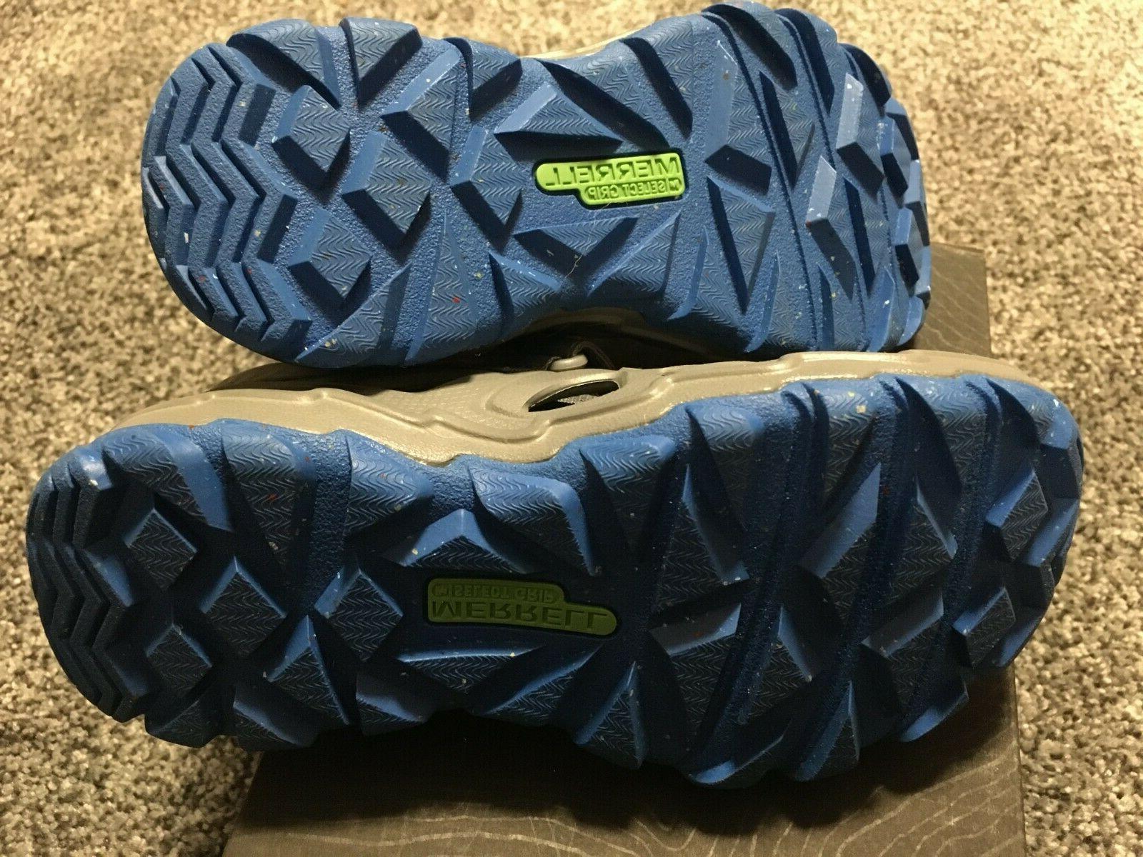 Merrell Boy Shoes Size 12 Grey Blue NEW