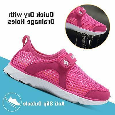 CIOR Boys & Water Shoes Aqua Swim Athletic, C.rose, Size