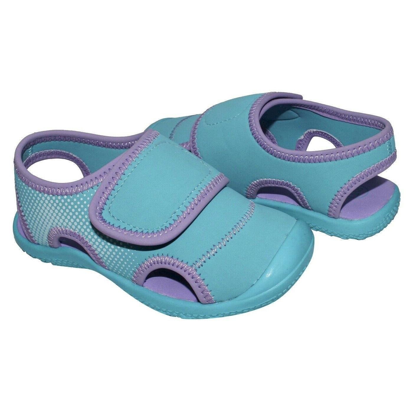 Cat & Toddler Girls Turquoise/Purple Water Shoes Fisherman Sandals -