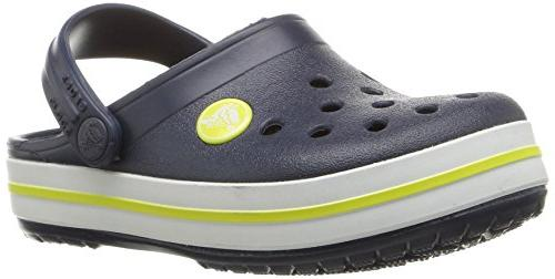 kids crocband k clog navy citrus 9