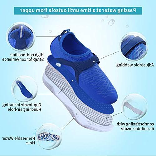 Fantiny Water Shoes Comfort Sole Easy Slip DKSX-Pink-30