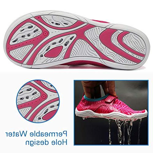Fantiny Water Shoes Sole Slip Aqua DKSX-Pink-30