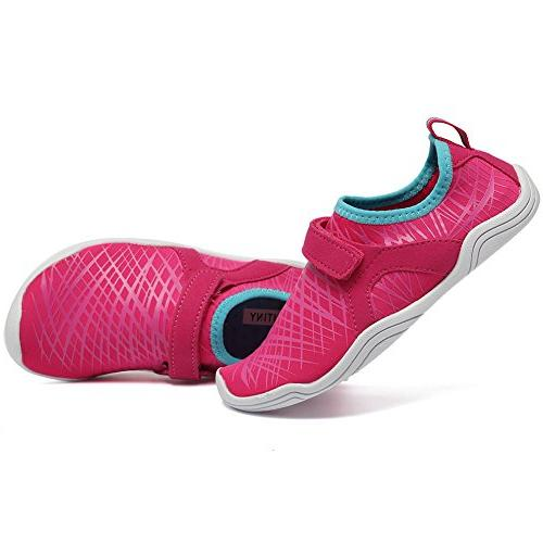 Fantiny Boys & Water Lightweight Comfort Sole Easy Walking Athletic Slip on Aqua DKSX-Pink-30