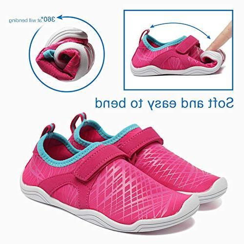 Fantiny Boys & Water Lightweight Sole Easy Walking Slip on DKSX-Pink-30