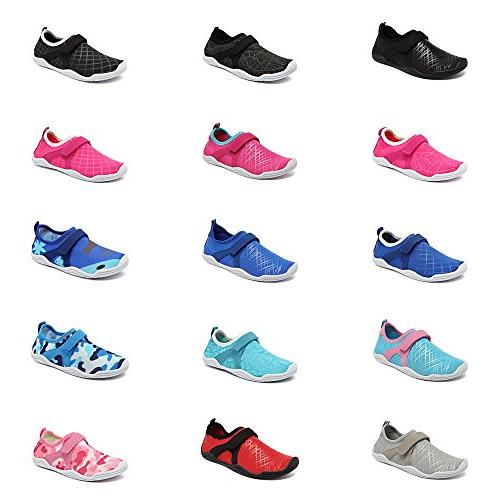 Fantiny Boys & Water Shoes Sole Slip on Aqua DKSX-Pink-30
