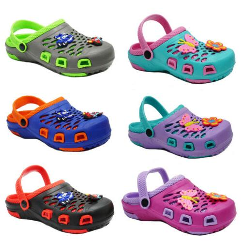 Girls Cute Clogs Sandals Kids Slip On Slippers Shoes