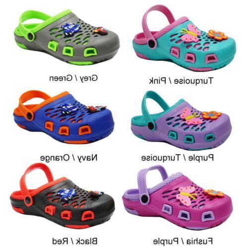 girls boys cute clogs sandals kids slip