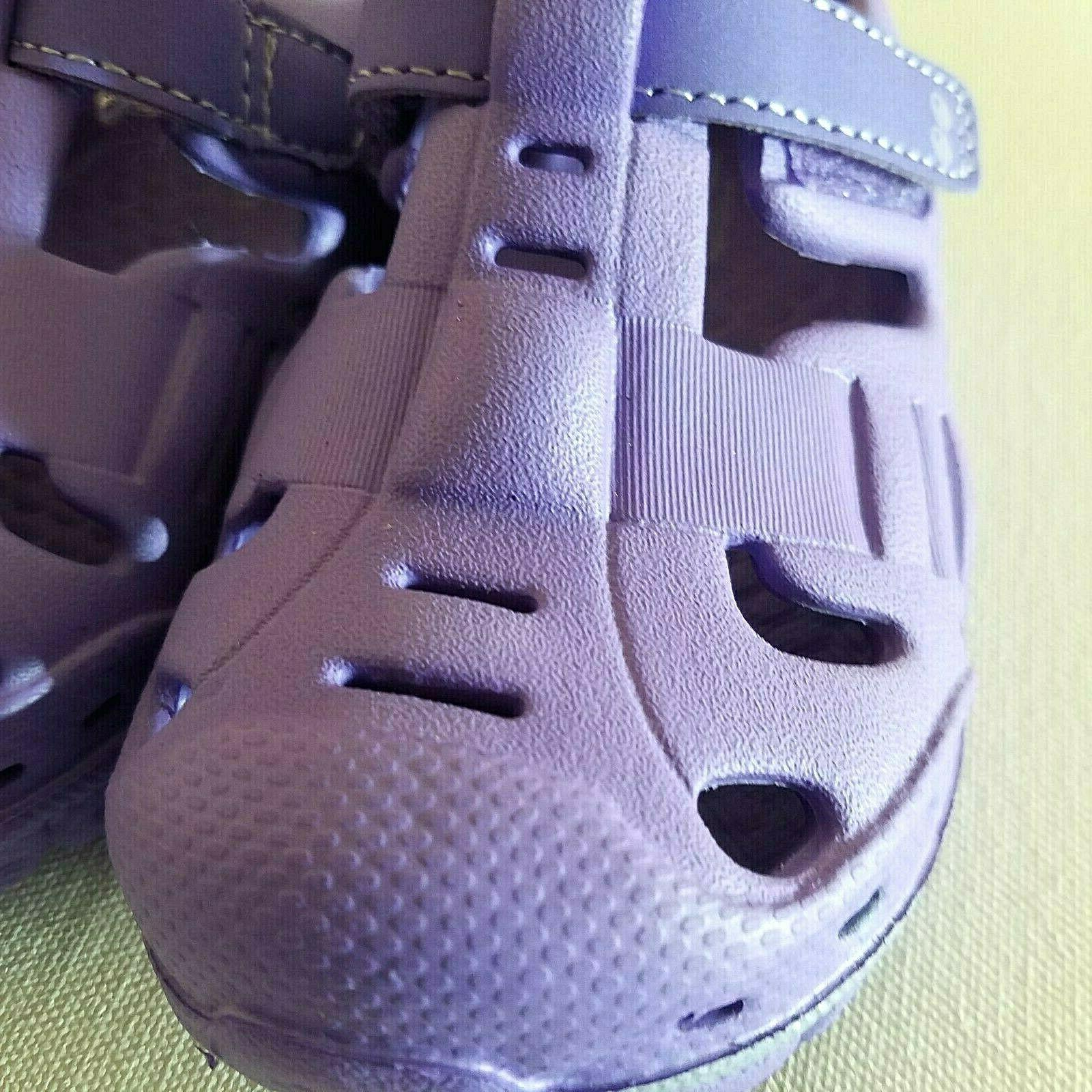 Girls Shoes Sizes 5 Purple Soft and Loop Fastener
