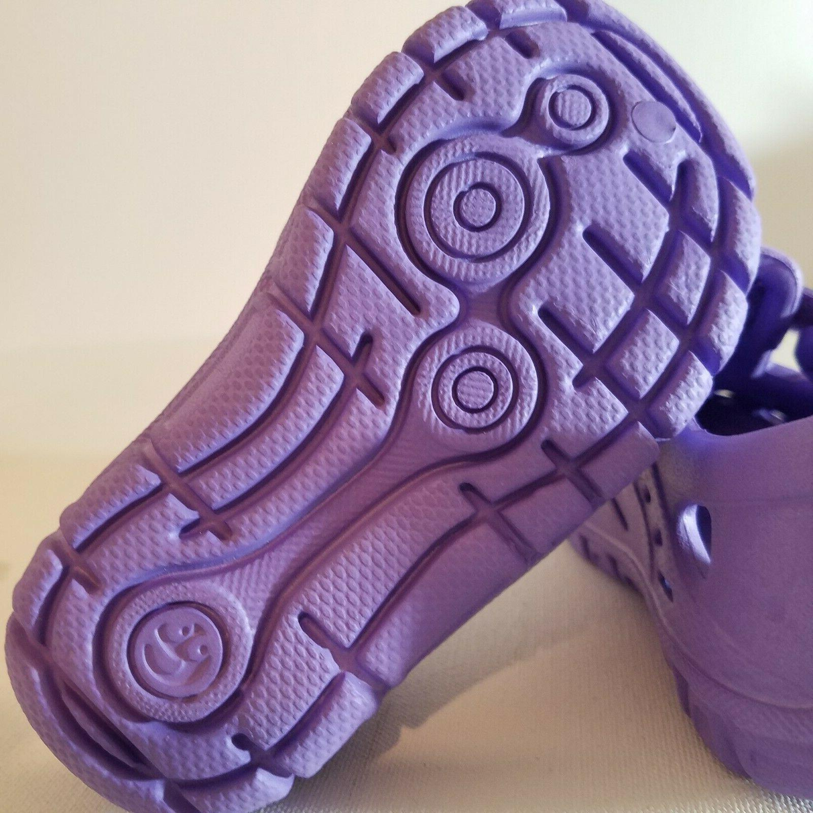 Girls Water & Shoes 4, 5 Purple Hook and Fastener