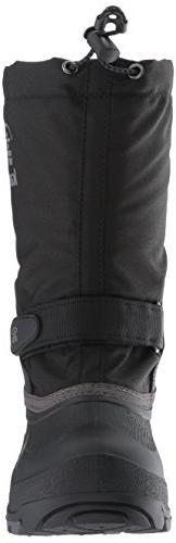 Kamik Girls' Boot, Black/Charcoal, 5 Medium US Big