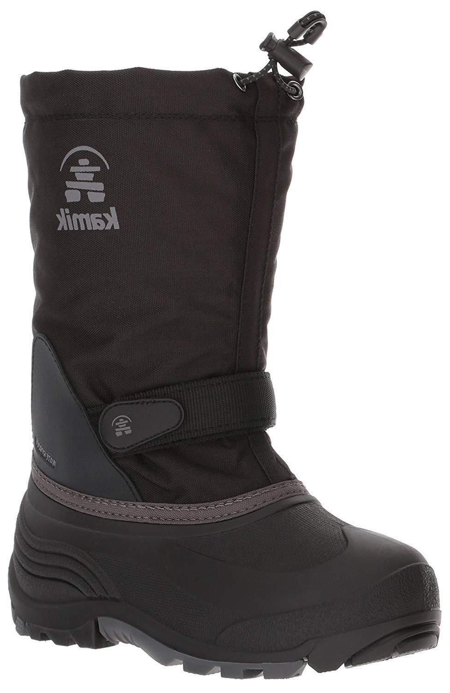 girls waterbug5 snow boot black charcoal 5