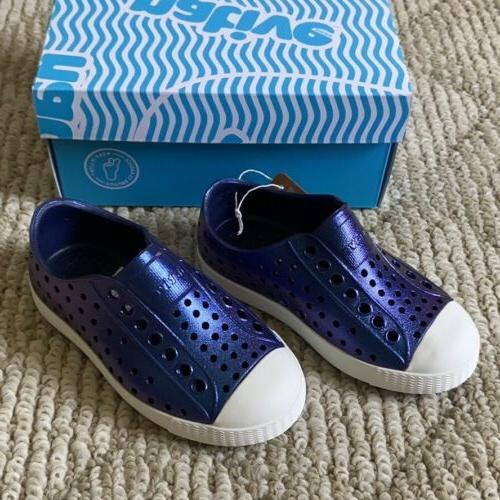 Native Jefferson Iridescent Regatta Blue Shoes C8 8