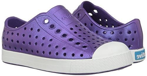 native Jefferson Child Shoe, White/Galaxy 11 US