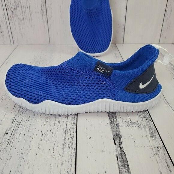 kids aqua sock 360 royal blue mesh