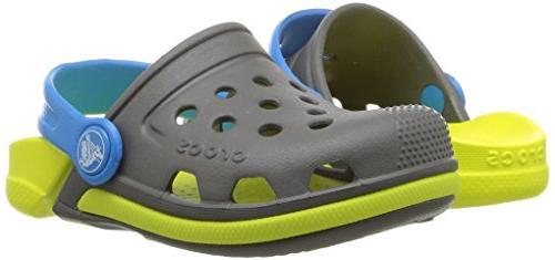 Slate Grey//Tennis Ball Green Crocs Electro III Kids Clogs