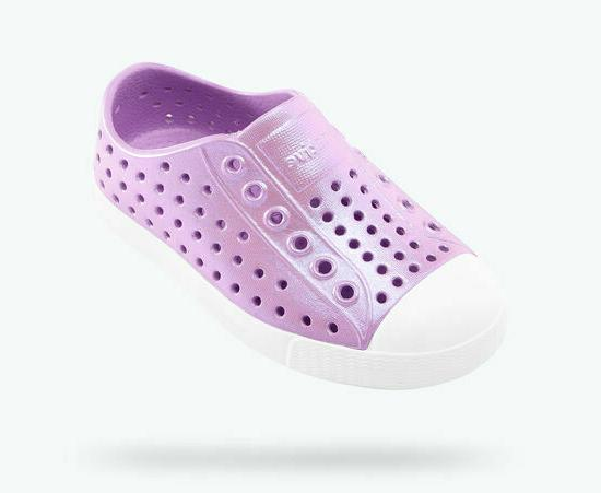 kids jefferson iridescent lavender purple water shoes