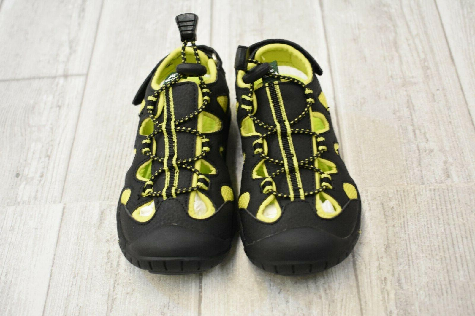 **Kamik Oyster Water Shoes Size 10 Black/Lime NEW!!
