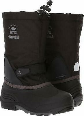 Boot, Black/Charcoal, Size 4.0 sZzz