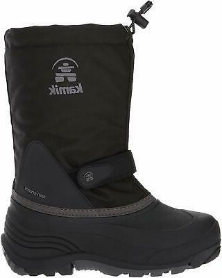 kids waterbug5 snow boot black charcoal size