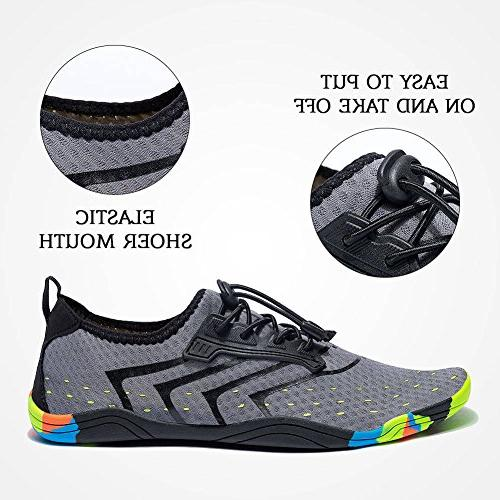 FEIFAN Women Men Lightweight Water Quick-Dry Barefoot Beach Shoes