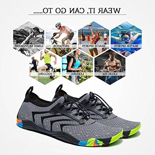 FEIFAN Women Men Lightweight Quick-Dry Barefoot Flexible Swim Shoes