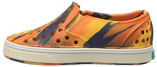 Native Kids Marbled Water Proof Shoes, Orange/Bone White/Marble, 12 US Little