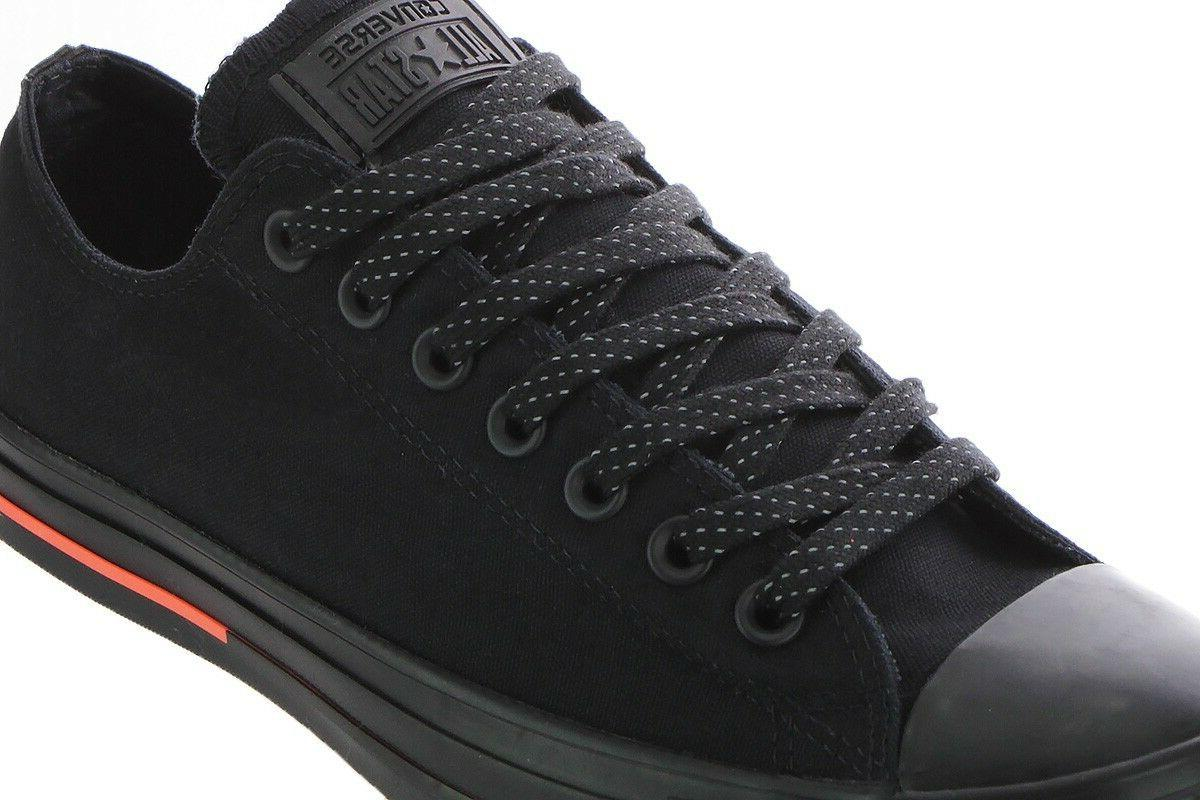 Men Converse Low Canvas 153800F Black Black Water-Repellent