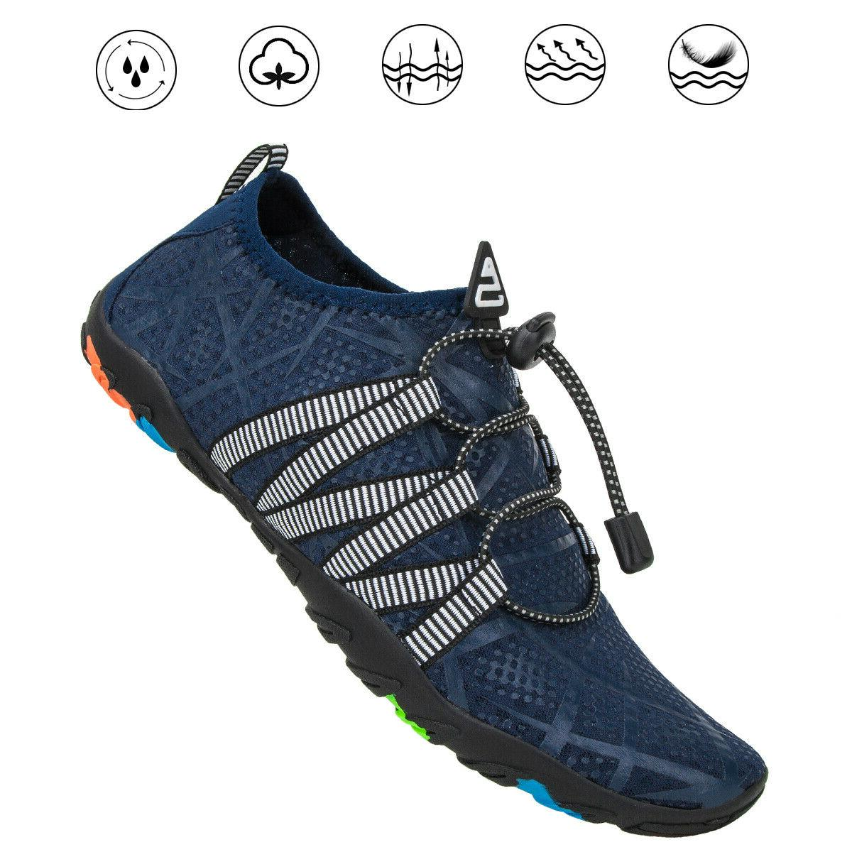 Men Swimming Beach Flat Breathable Wading Shoes