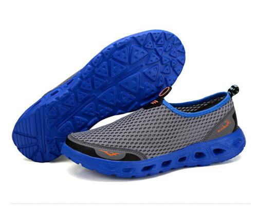 Men Big Size Mesh Shoes Slip On Lightweight Sneakers