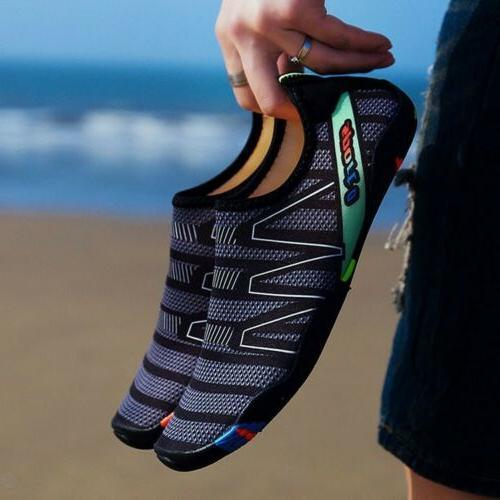 Men Barefoot Aqua Socks Yoga Beach Pool Exercise Surf