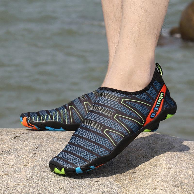 men quick dry water shoes barefoot aqua
