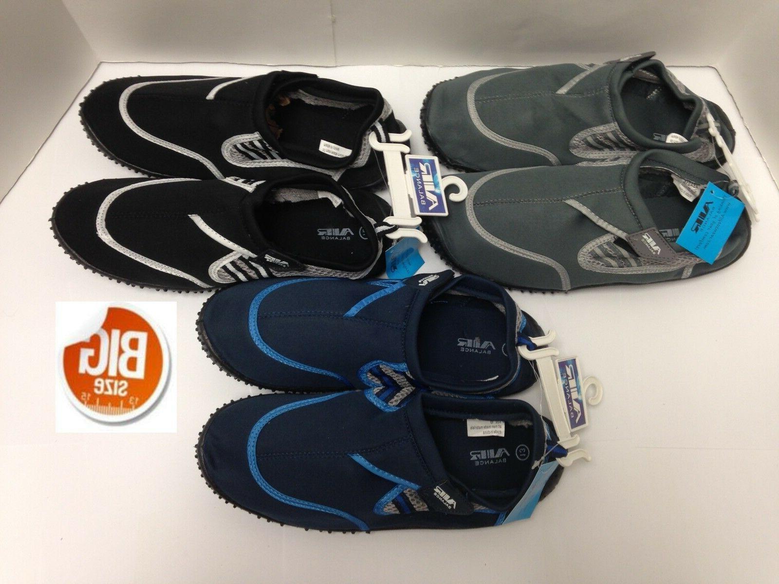 Air Balance Water Shoes, Big Size 13-15, Gray, ABA010