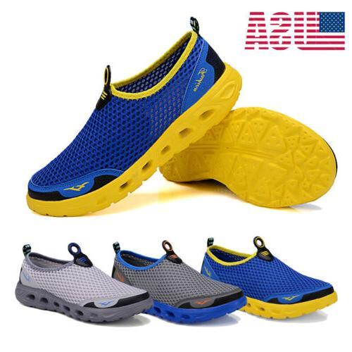 men s big size mesh water shoes