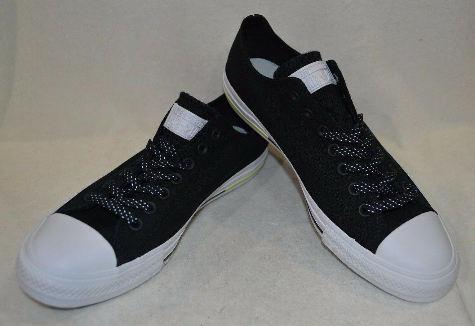 Converse OX Water-Repellent Black White Sneakers - 9 /