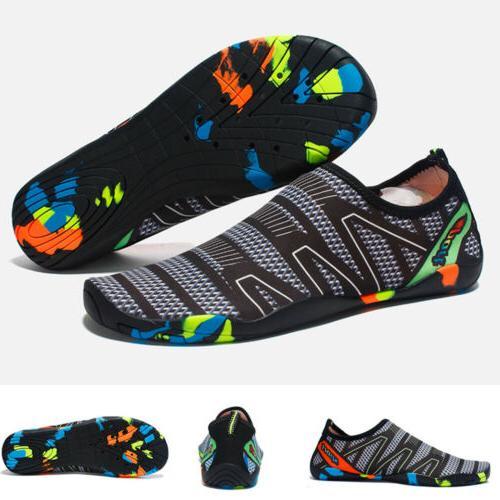 Mens Swimming Barefoot Aqua Socks Quick-Dry Surf Pool Shoes