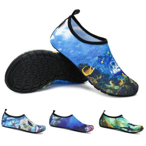 Men Water Shoes Aqua Socks Diving Socks Non-slip Swim Beach Sea 45Colors