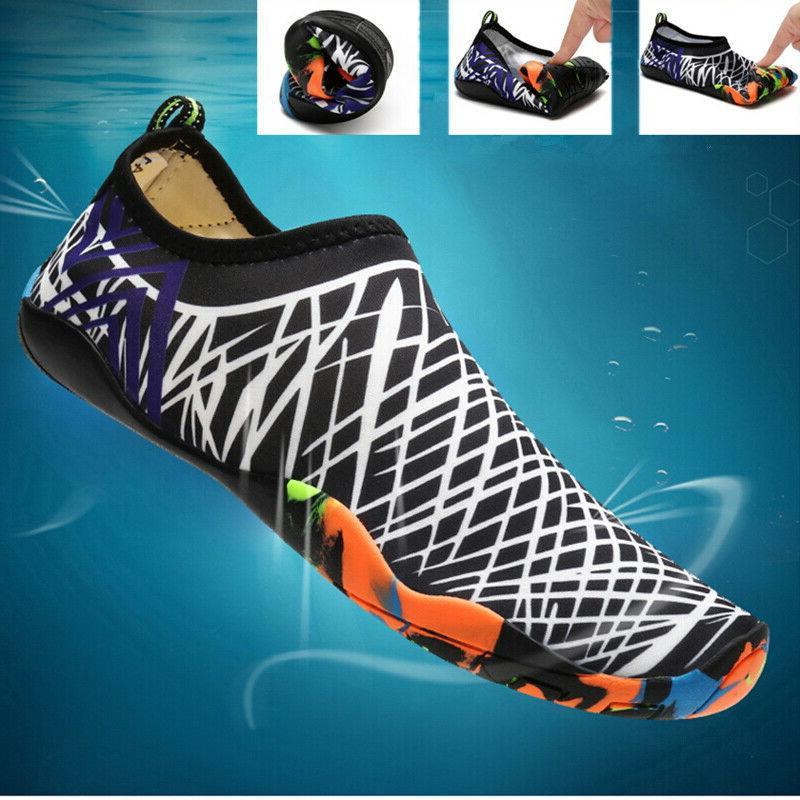 men water shoes barefoot aqua socks quick