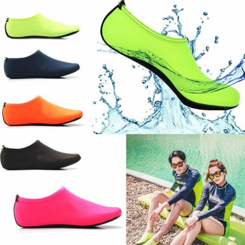 Men Women Aqua Skin Shoes Yoga Exercise Slip On