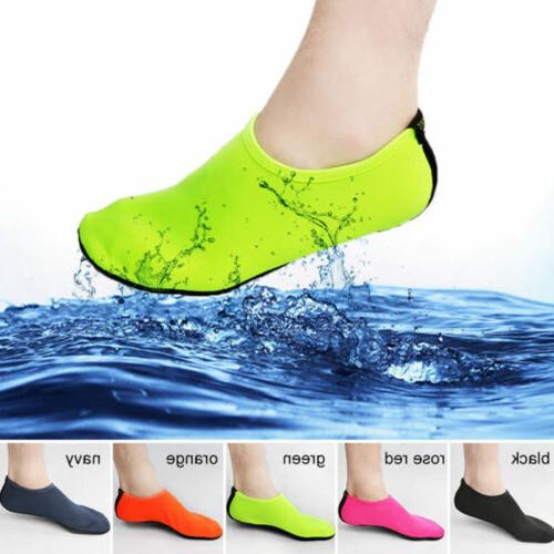 Men Women Skin Water Shoes Aqua Beach Socks Yoga Exercise Po