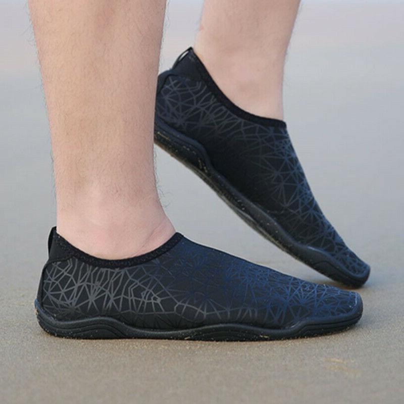 Mens Barefoot/Minimalist Water Athletic Sneakers Slip Lightweight Black