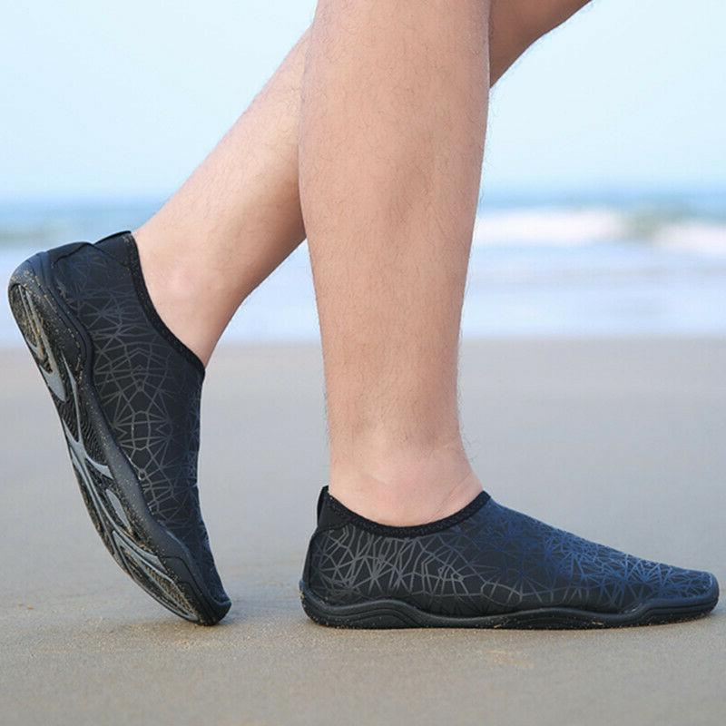 Mens Water Shoes Athletic Slip Lightweight Black