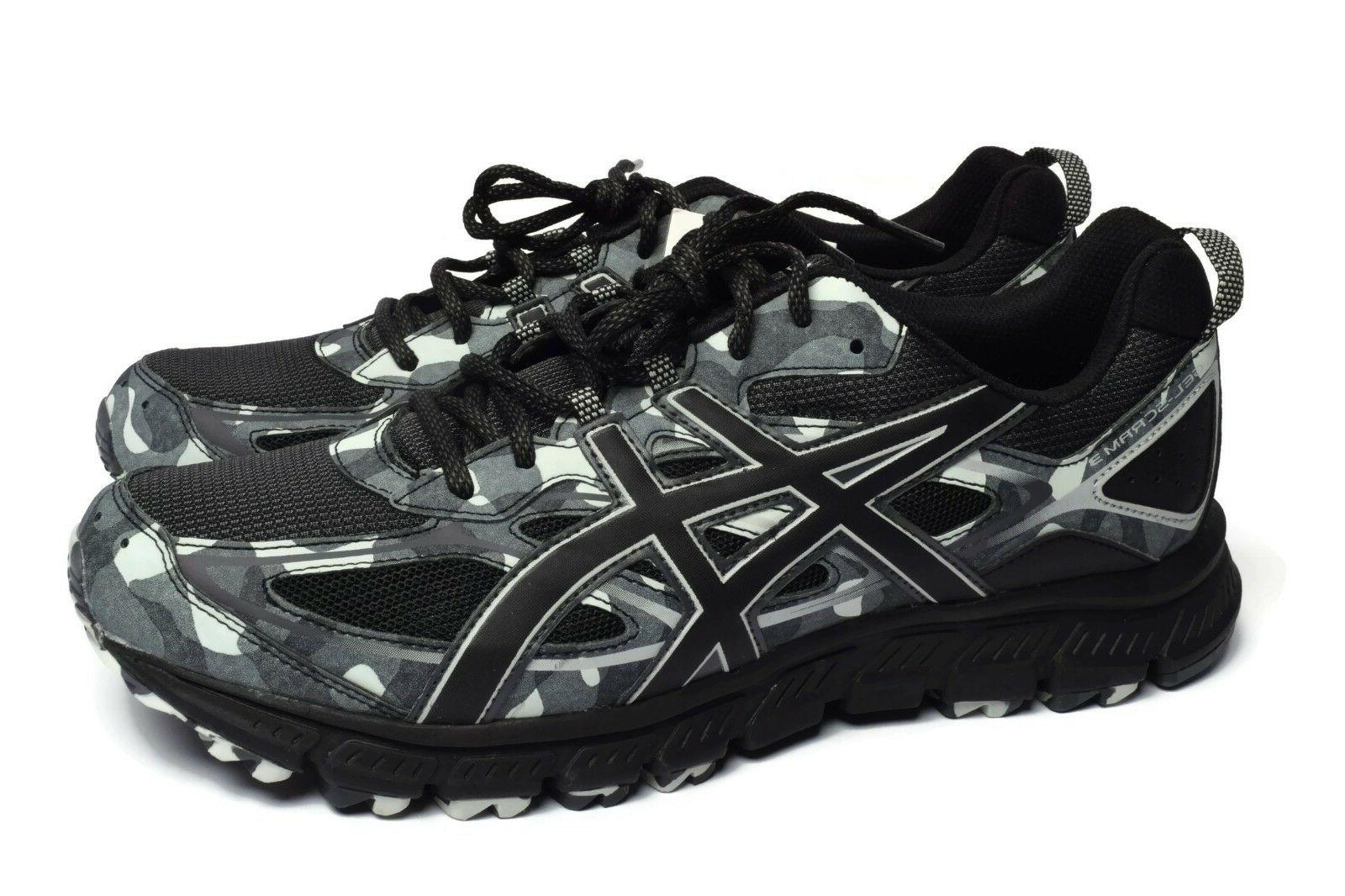 mens gel scram 3 black gray athletic