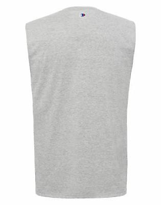 Champion Mens Fit Tee Cotton T-Shirt Sleeveless