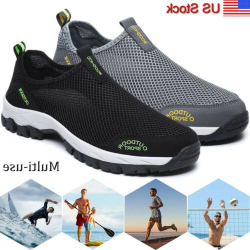mens mesh water shoes beach walking sneaker