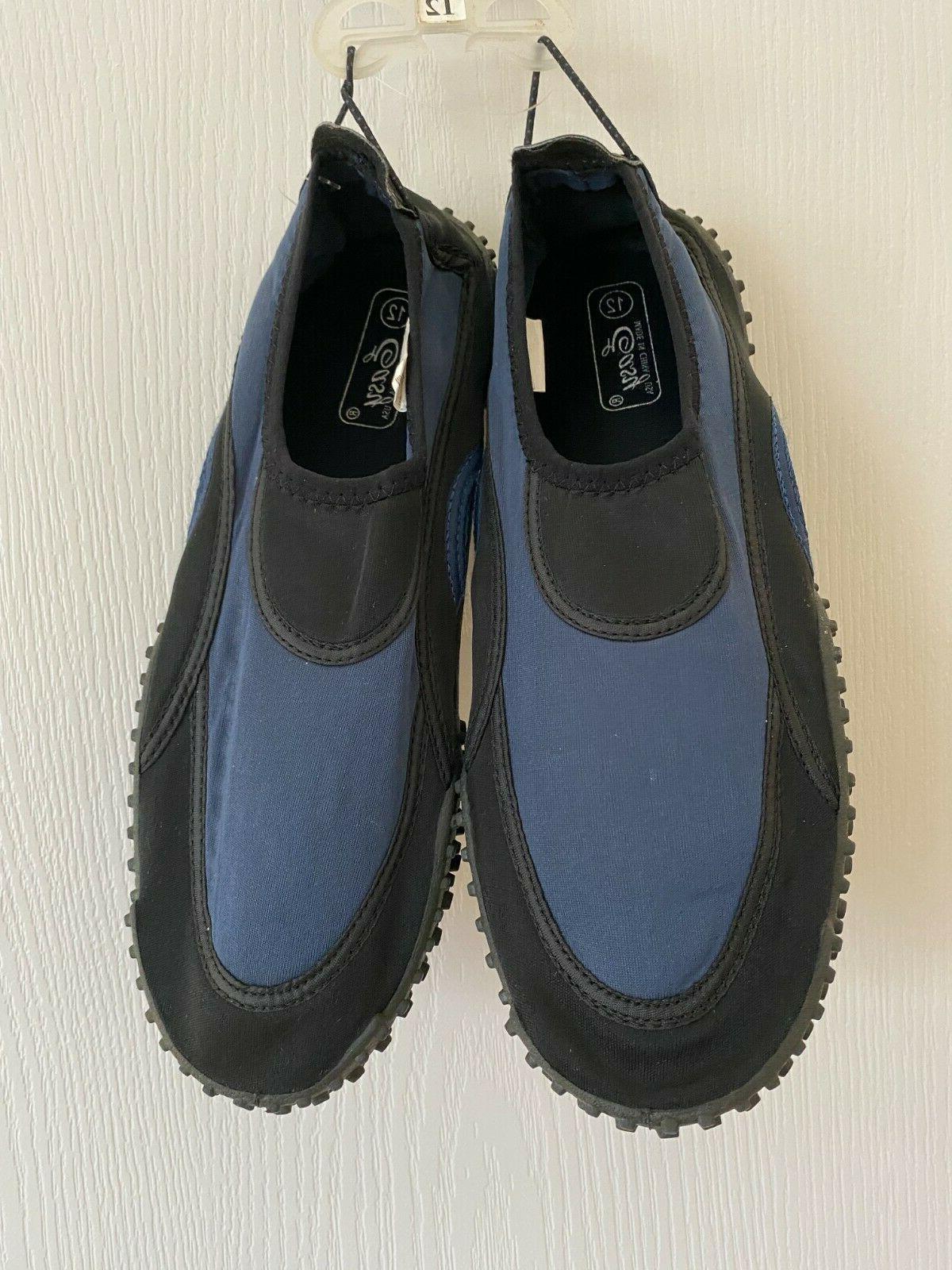 mens new navy water shoes aqua socks