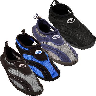 mens water shoes aqua socks slip on