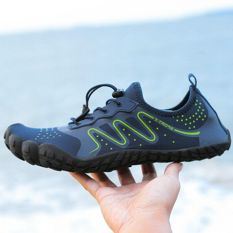 Mens Beach Barefoot Walking Swimming