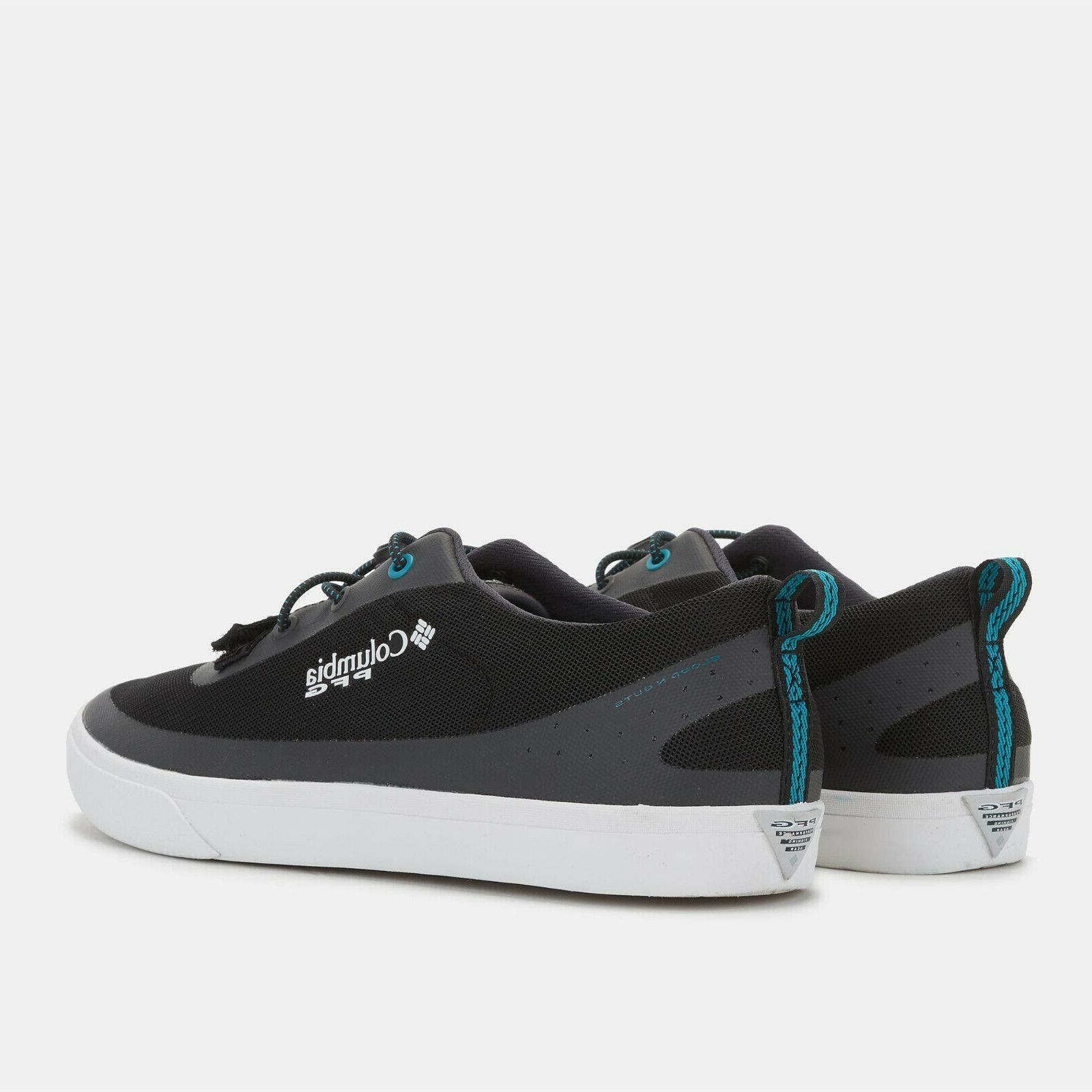 Mens Black Dorado PFG Boat Shoes NEW