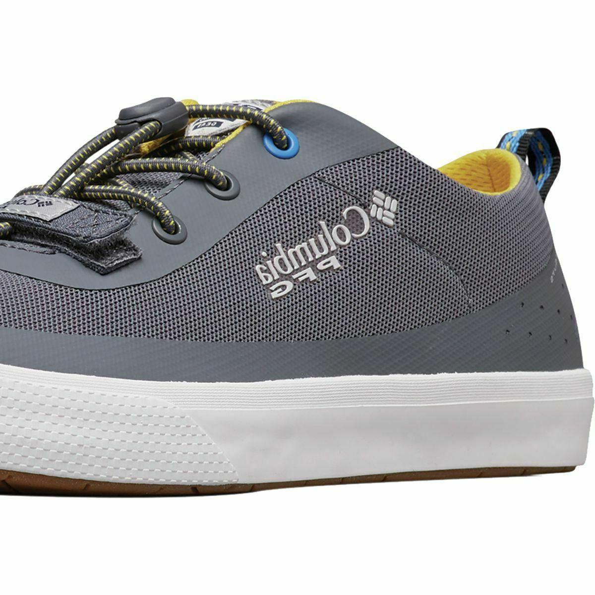 Mens Columbia Gray PFG Boat Shoes
